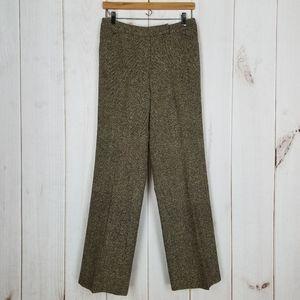 Talbots | Career Wool Silk Brown Tweed Pants - 6
